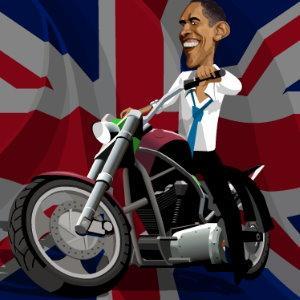 لعبة اوباما سائق الدراجات - لعبة دراجة اوباما