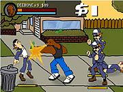لعبة مصارعة الشوارع قوية