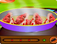 لعبة طبخ اللحم الضانى