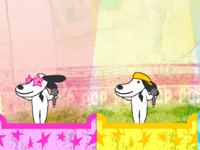 العاب والكلاب الموهوبة بالغناء