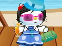 العاب تلبيس هيلو كيتي الملابس الصيفية