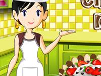 العاب طبخ كيكة موس الشوكولاتة مع سارة