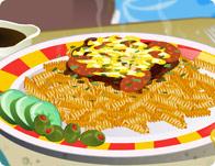 لعبة طبخ مكرونة بالباشميل