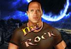لعبة المصارع الروك الصخرة